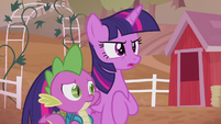 Twilight asking about the --cause-- S5E25