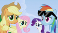 Applejack, Fluttershy, Rarity and Rainbow Dash S2E03.png