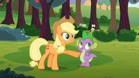 Applejack commends Spike S03E09