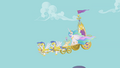 Celestia's chariot descends from Canterlot S1E10.png