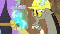 Discord with flying napkins in a jar S7E12