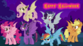 FANMADE - Bat Mane Six - Happy Halloween.png