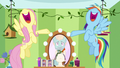 Fluttershy and Rainbow singing for Zephyr S6E11.png