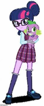 Friendship Games Twilight Sparkle and Spike artwork