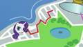 Map of Manehattan; red line leads to Rarity S6E3.png