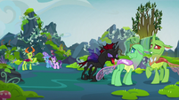 Pharynx hissing at his fellow changelings S7E17