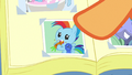 Photo of Baby Rainbow Dash eating a carrot S7E7.png