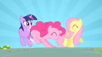 Pinkie Pie hitting Twilight S01E25
