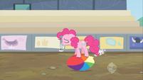 Pinkie Pie sad and ball deflating S2E14