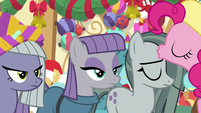 Pinkie kisses Marble on the forehead MLPBGE