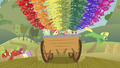 Ponies jump off the cart S3E08.png