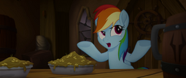 """Rainbow Dash """"stopped for a lunch break?"""" MLPTM"""