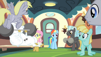 Rainbow Dash addresses the teams S4E24