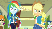 Rainbow Dash and Applejack walking side-by-side EGDS4