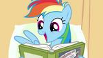 Rainbow Dash enjoys reading S02E16