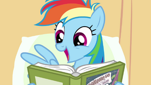 Rainbow Dash enjoys reading S02E16