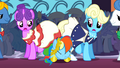 Rainbow Dash getting through the crowd S1E26.png