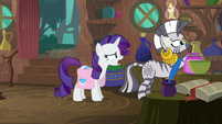 "Rarity ""I couldn't hear my own voice!"" S8E11"