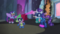 Rarity lifting up Spike's cape S4E06.png