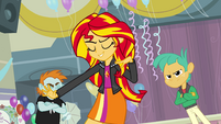 "Sunset Shimmer ""running unopposed"" EG"