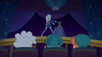Trixie pointing at the empty vase EGSB