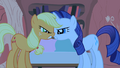 Applejack and Rarity muzzle to muzzle S1E08.png