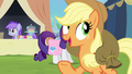 Applejack crosses in front of Rarity S4E22.png
