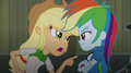 Applejack pointing at Rainbow EG2.png