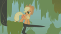 Applejack stuck in a tree branch S1E09.png