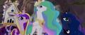 Celestia, Luna, and Cadance confront Tempest MLPTM.png