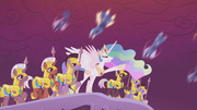 Celestia leads her forces into battle S5E25