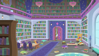 Cozy Glow entering the school library S8E25