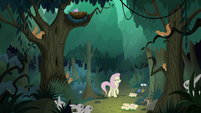Fake Fluttershy surrounded by animals S8E13