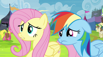 Fluttershy and Rainbow Dash worried S4E22