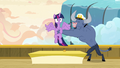 Iron Will puts Twilight behind an autograph table S7E22.png