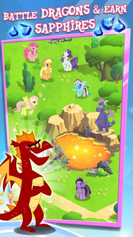 MLP mobile game Battle Dragons and earn Sapphires