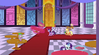 Mane Six racing to prepare the ballroom S9E13