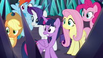 Mane Six shocked by Sombra's declaration S9E2