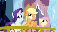 Ponies looking up at Spike S3E2