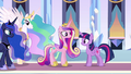 Princesses in the Empire throne room EG.png