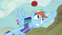 Rainbow misses Pinkie Pie's goal shot S6E18