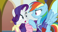 Rarity and Dash suggest different stuff for third time S8E17
