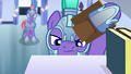 Royal guard searches for Thorax on a bookshelf S6E16.png