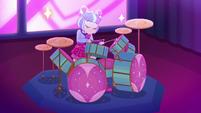 Su-Z playing drums for True Original EGSBP