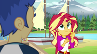 Sunset Shimmer thinking of an excuse EG4