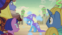 Trixie appears behind Somnambula ponies S8E19