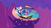 Twilight re-reading Mare in the Moon passage S1E01