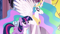 Twilight walking with Celestia S3E01