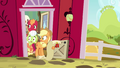 Applejack, Big Mac, and Granny Smith watching Pinkie S4E09.png