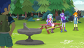 Celestia and Luna near Camp Everfree sundial EG4.png